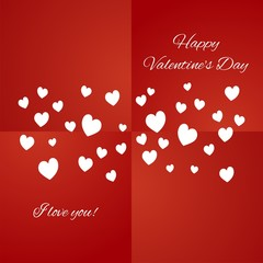 Happy Valentine's Day red background vector