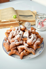 Angel wings (Faworki),cakes deep-fried in oil to celebrate Fat T