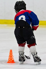 Young hockey player at practice