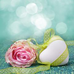 Duftende Blüte und Herz