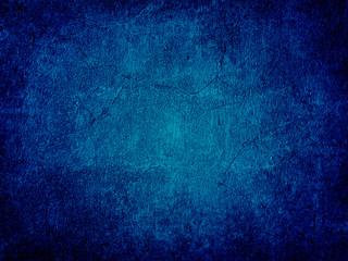 Grunge blue wall background