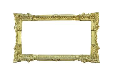 Golden classic frame on white