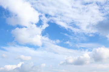 Sunny day cloudscape