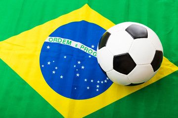 Brazil Flag and soccer ball