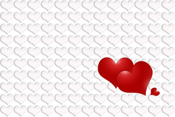 Simply three red hearts