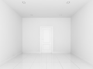 white wall in a empty room