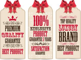 Quality labels set