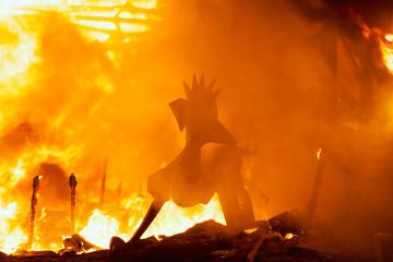 Crema in Fallas Valencia March 19 night all figures are burn