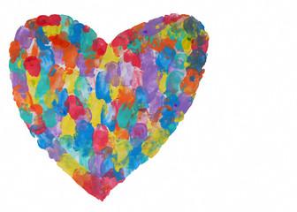 kalp boya ile