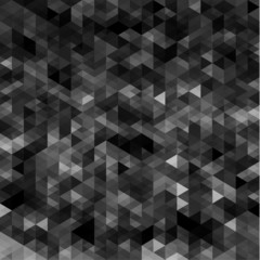 Abstract black trianglular mosaic background
