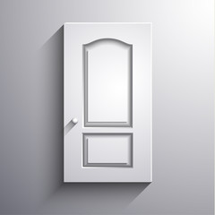 Abstract 3d door illustration