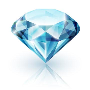 Sapphire on white background