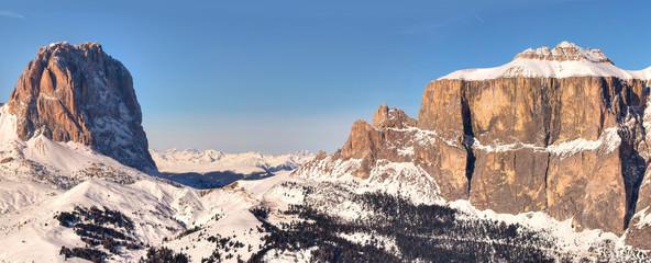 Winter mountains in Italian Alps