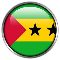 Sao Tome and Principe Flag glossy button