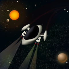Illustration of a spacecraft