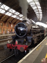 Steam train at Temple Meads station