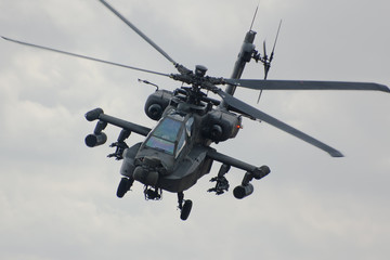 Wall Murals Helicopter Apache helicopter