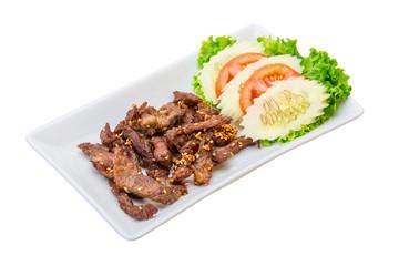 Fried pork thai style