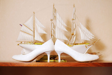 Wedding Shoes and Ship