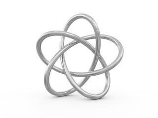 Torus Knot 3d render illustration