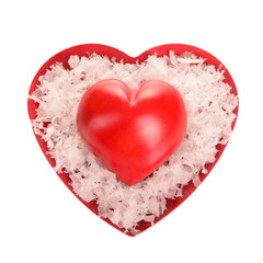two decorative red heart