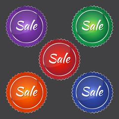 Glossy Sales tag Vector