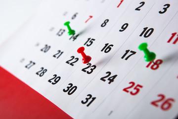 wall calendar calendar with needles