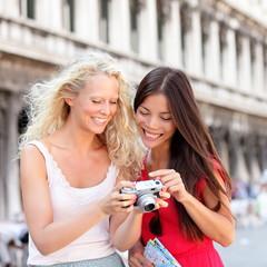 Travel - Women friends laughing having fun