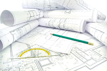 Image of several drawings of the project and instruments