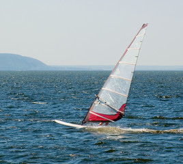 The yacht participating in the regatta