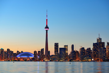 Printed roller blinds Canada Toronto cityscape
