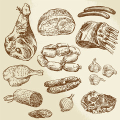 meat - hand drawn collection