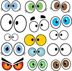 Cartoon Eyes Set 01