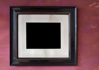 Vintage empty picture frame