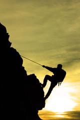 Wall Mural - ip tırmanışı&dağcı