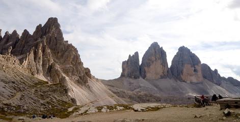 Paternkofel und Drei Zinnen - Dolomiten - Alpen