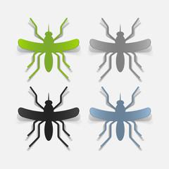 realistic design element: mosquito