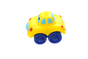 Toy yellow car.