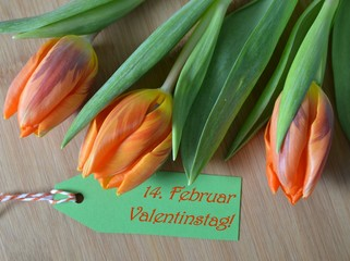 Tulpen zum Valentinstag