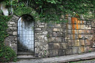 Iron gate entrance