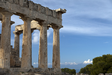 Temple of Aphaia.Aegina island,Greece.