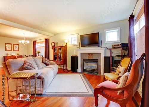 интерьер светлый камин диван ковер interior light fireplace sofa carpet бесплатно