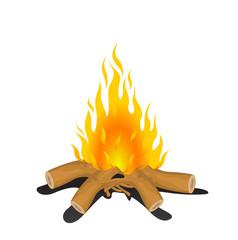 Campfire Vector