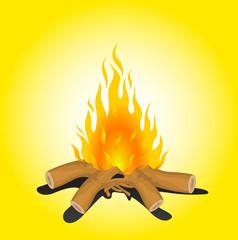Bonfire Vector