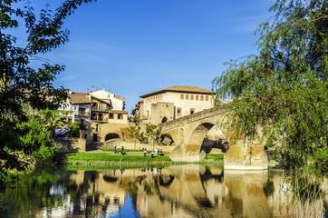 Beautiful bridge in the village