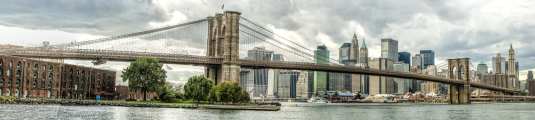 The Brooklyn Bridge in New York city, USA