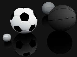 Sports Equipment. 3d Illustration