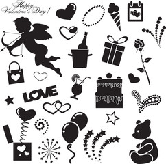 Vector images by day of Valentine