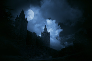Canvas Prints Castle Mysterious medieval castle