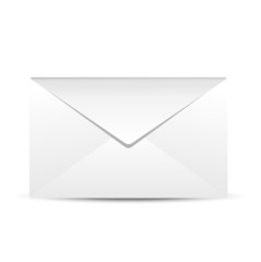 Paper envelope on a white background